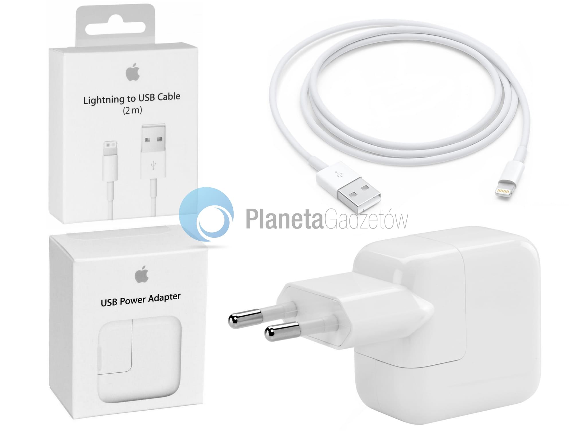Oryginalny Zestaw Apple ładowarka sieciowa 12W + kabel