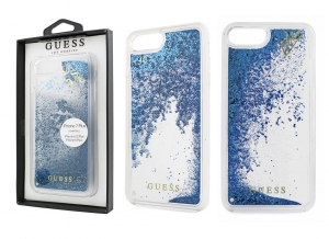 Brokatowe etui Guess Liquid Glitter do Apple iPhone 7 Plus / 8 Plus (niebieskie)