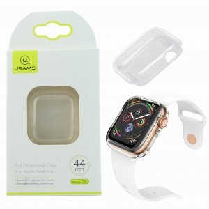 Oryginalne Etui TPU USAMS do Apple Watch 4 44mm (przezroczyste)