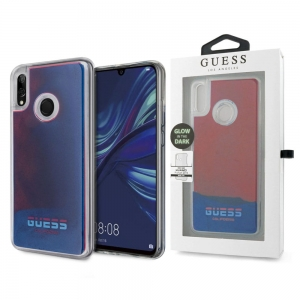 Etui Guess California Glow In The Dark do Huawei P Smart 2019 (czerwono-niebieskie)