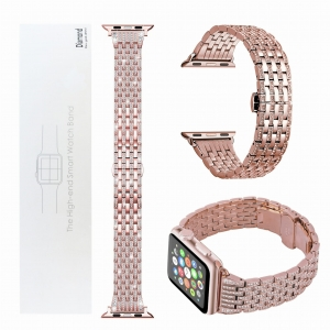 Diamentowa bransoleta / pasek do Apple Watch 4 40mm (rose gold)