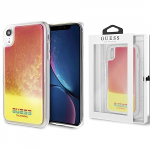 Etui Guess Glow Sand Apple iPhone XR (różowo - żółte)