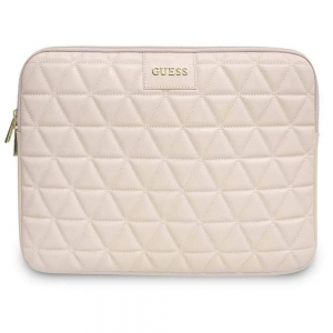 "Oryginalne etui Guess Quilted na laptop 13"" (jasnoróżowe)"