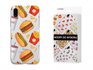 Etui Intede do Apple iPhone X z wzorem Foodporn