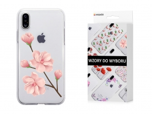Etui Intede do Apple iPhone X z wzorem Floral