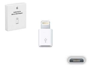 Adapter Apple MD820FE/A MD820ZM microUSB na Lightning (box)