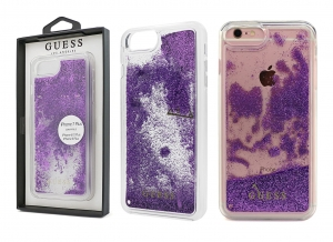 Brokatowe etui Guess Liquid Glitter do Apple iPhone 7 Plus / 8 Plus (fioletowe)