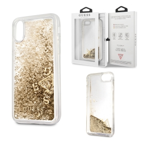 Brokatowe etui Guess Liquid Glitter do Apple iPhone 8/7/6/6S (złote)